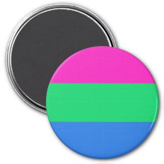 Bandera del orgullo de Polysexual Imán Redondo 7 Cm