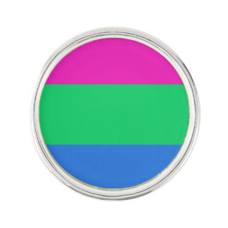 Bandera del orgullo de Polysexual Pin