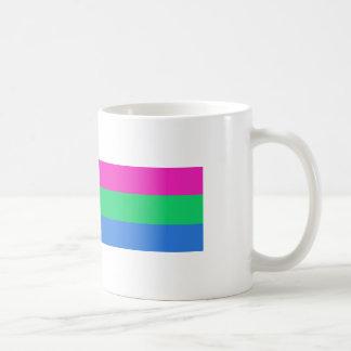 Bandera del orgullo de Polysexual Taza De Café