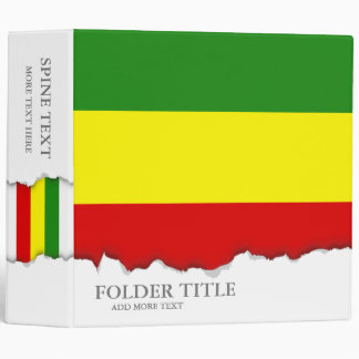 "Bandera del orgullo de Rastafarian Carpeta 2"""