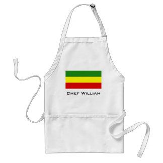 Bandera del orgullo de Rastafarian Delantal