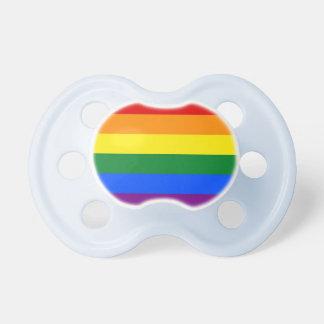 Bandera del orgullo del arco iris chupetes