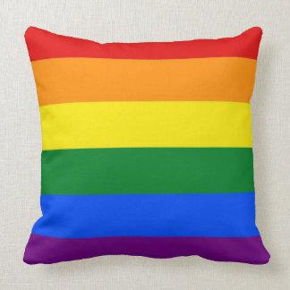 Bandera del orgullo del arco iris cojín decorativo