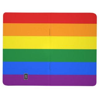 Bandera del orgullo del arco iris cuadernos grapados