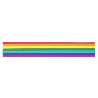 Bandera del orgullo del arco iris de 7 rayas camino de mesa largo