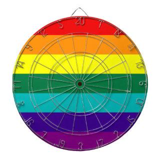Bandera del orgullo del arco iris de 7 rayas tablero dardos