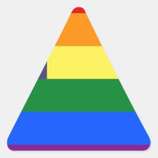 Bandera del orgullo del arco iris de los E.E.U.U. Pegatina Triangular