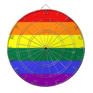 Bandera del orgullo del arco iris tabla dardos