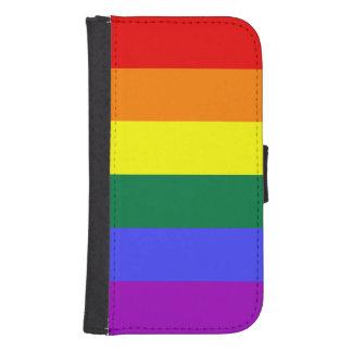 Bandera del orgullo del arco iris funda tipo billetera para galaxy s4