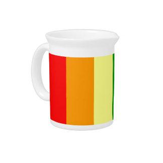 Bandera del orgullo del arco iris jarra de beber