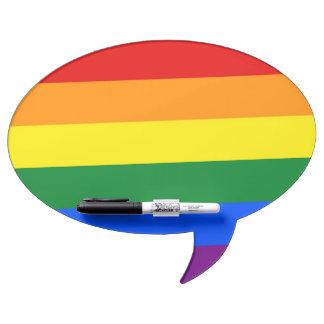 Bandera del orgullo del arco iris tableros blancos