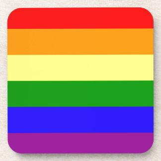 Bandera del orgullo del arco iris posavaso