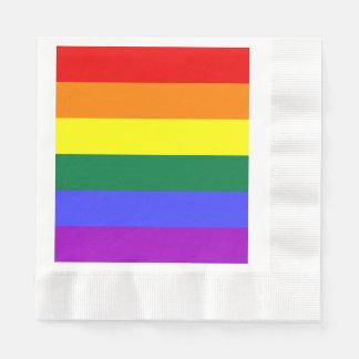 Bandera del orgullo del arco iris servilletas desechables