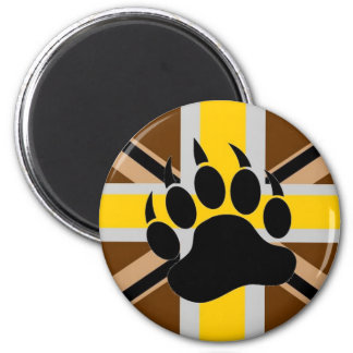 Bandera del orgullo del oso de Británicos Imán Redondo 5 Cm