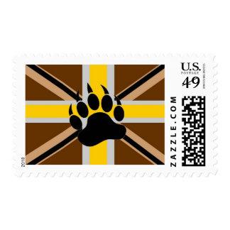 Bandera del orgullo del oso de Británicos Timbre Postal