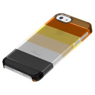 BANDERA DEL ORGULLO DEL OSO ENCENDIDO FUNDA CLEAR PARA iPhone SE/5/5s
