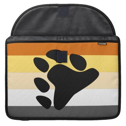Bandera del orgullo del oso funda para macbook pro