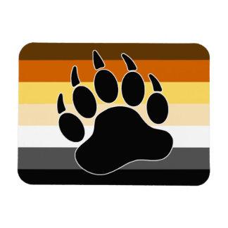 Bandera del orgullo del oso iman