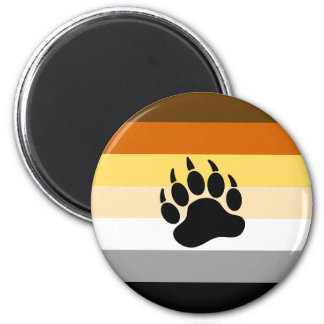 Bandera del orgullo del oso imán redondo 5 cm