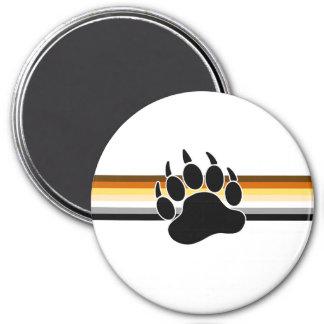 Bandera del orgullo del oso imán redondo 7 cm