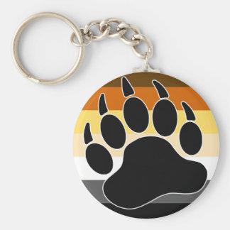 Bandera del orgullo del oso llavero redondo tipo pin