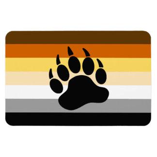 Bandera del orgullo del oso rectangle magnet