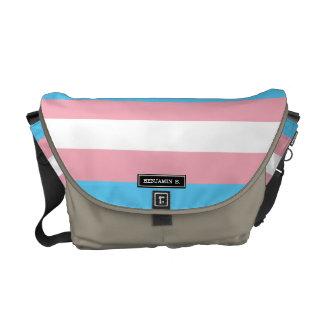 Bandera del orgullo del transexual bolsa de mensajeria