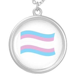 Bandera del orgullo del transexual collares