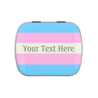 Bandera del orgullo del transexual de Falln Jarrones De Dulces
