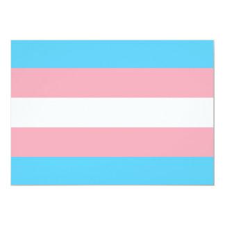 """Bandera del orgullo del transexual invitación 5"""" x 7"""""""