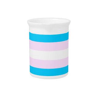 Bandera del orgullo del transexual jarrones