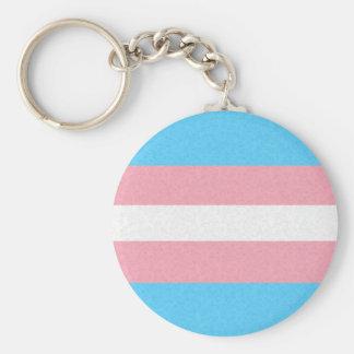 Bandera del orgullo del transexual llavero redondo tipo pin