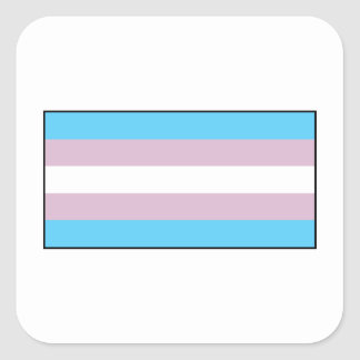 Bandera del orgullo del transexual pegatina cuadrada