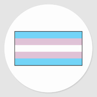 Bandera del orgullo del transexual pegatina redonda