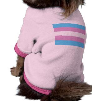 Bandera del orgullo del Transexual Camisa De Mascota