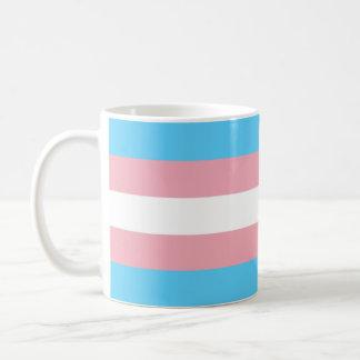 Bandera del orgullo del transexual taza