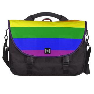 Bandera del orgullo gay/bandera del arco iris bolsas de ordenador