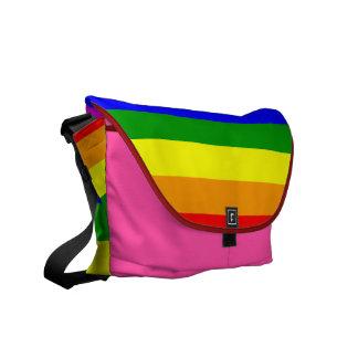 Bandera del orgullo gay/bandera del arco iris bolsas de mensajería