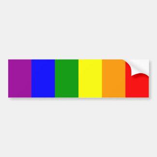 Bandera del orgullo gay/bandera del arco iris pegatina de parachoque