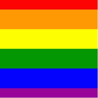 Bandera del orgullo gay/bandera del arco iris escultura fotografica