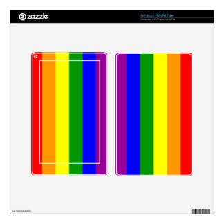 Bandera del orgullo gay/bandera del arco iris skin para kindle fire