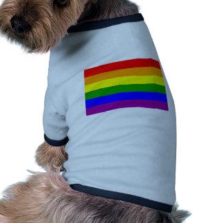 Bandera del orgullo gay/bandera del arco iris camiseta con mangas para perro