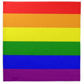 Bandera del orgullo gay/bandera del arco iris servilletas de papel
