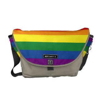 Bandera del orgullo gay bolsa de mensajeria