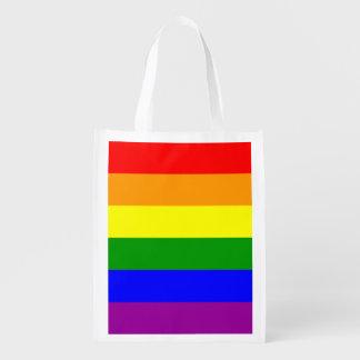 Bandera del orgullo gay bolsa de la compra