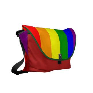Bandera del orgullo gay bolsas messenger