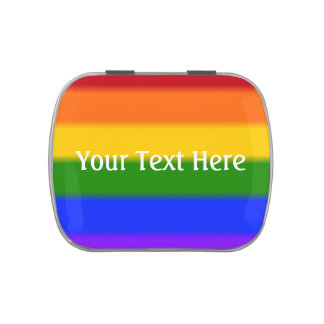 Bandera del orgullo gay de Falln Latas De Dulces