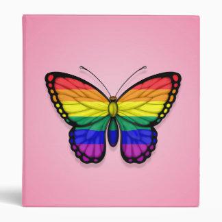 Bandera del orgullo gay de la mariposa del arco ir