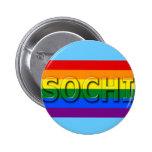 Bandera del orgullo gay de SOCHI Pin