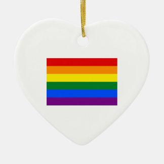 Bandera del orgullo gay ornamente de reyes